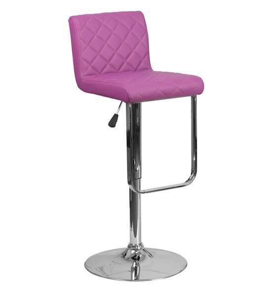 Farley Adjustable Height Swivel Bar Stool by Orren Ellis