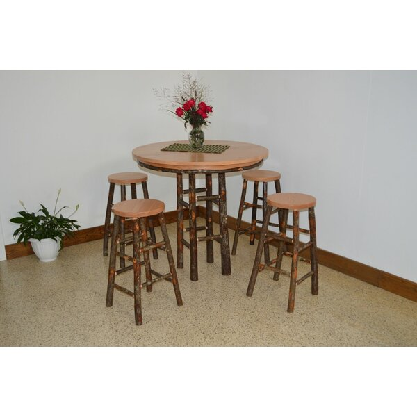 Yorba 5 Piece Solid Wood Dining Set by Loon Peak