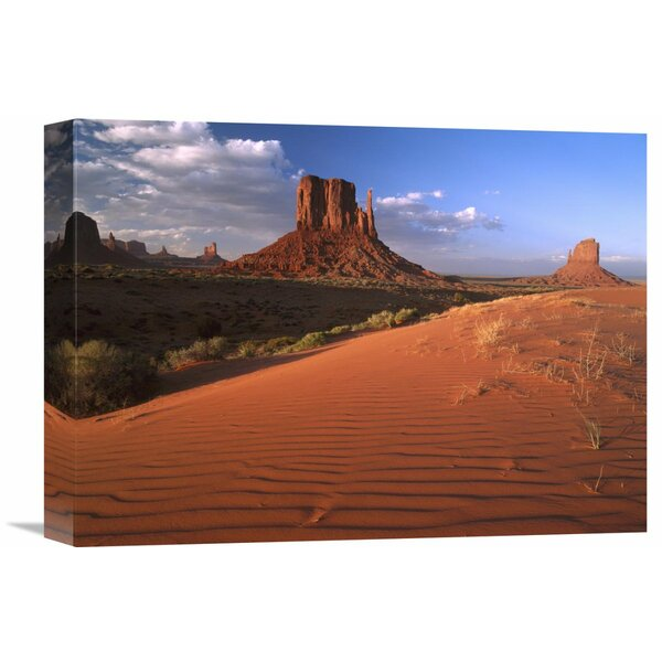 Nature Photographs Sand Dunes and the Mittens Monument Valley Navajo Tribal Park Arizona by Tim Fitzharris Photographic Print on Wrapped Canvas by Global Gallery