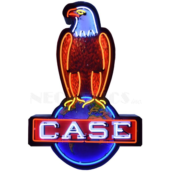 Case Eagle in Shaped Steel Can Wall Light by Neonetics