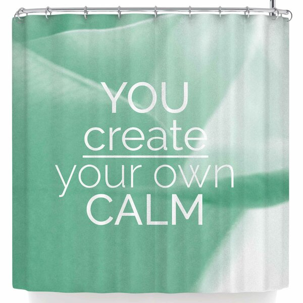 East Urban Home Tiny September You Create Your Own Calm Photography Shower Curtain