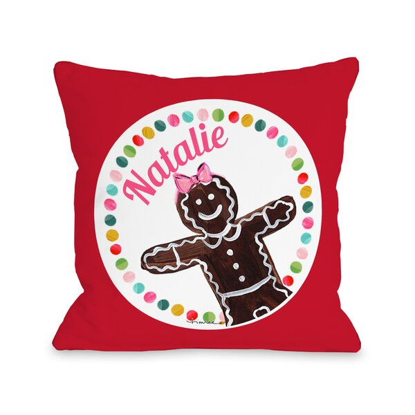 Gingerbread Girl Personalized Throw Pillow by One Bella Casa