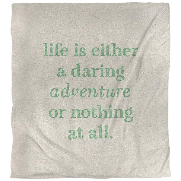 Quotes Handwritten Life Adventure Single Reversible Duvet Cover