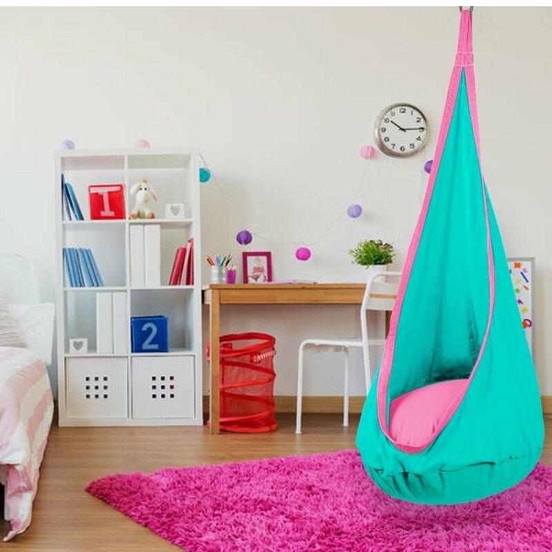 Zoomie Kids Iddings Kid S Hanging Pod Hammock Swing Chair Reviews Wayfair