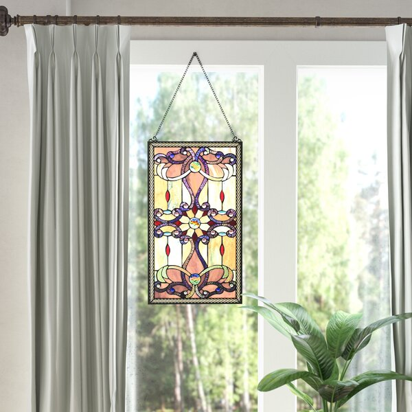 Ludington Tiffany Style Stained Glass Window/Wall Panel by Astoria Grand