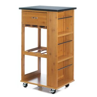 Teterboro Kitchen Cart with Marble Top by Millwood Pines