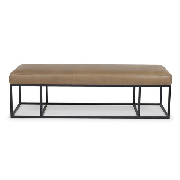 Grantville Leather Bench by 17 Stories