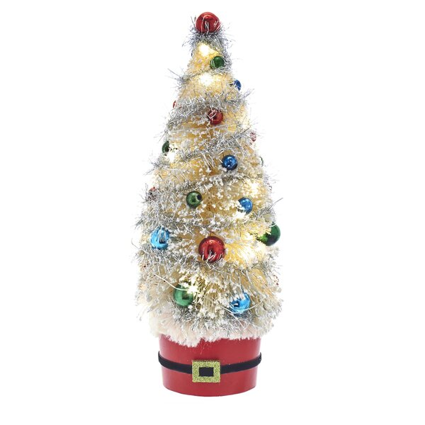 12 Sisal Artificial Christmas Tree with Balls by Kurt Adler