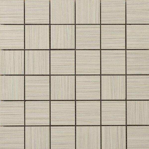 Strands 2 x 2/12 x 12 Porcelain Mosaic Tile in Oyster by Emser Tile