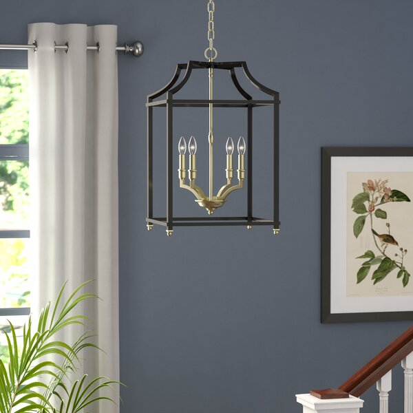 Bartley 4 - Light Lantern Square Chandelier by Darby Home Co Darby Home Co