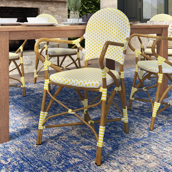 Fresh Papke Stacking Patio Dining Chair (Set Of 2) By Lark Manor Best