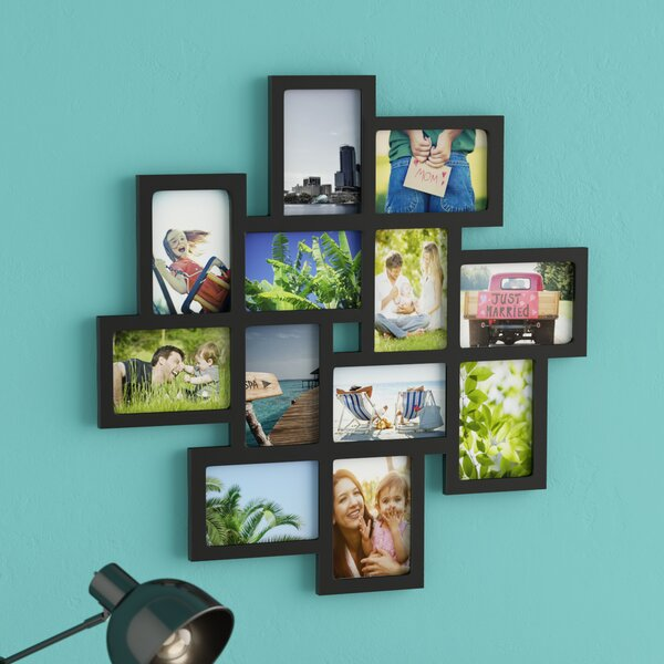 Nordman 12 Opening Decorative Wood Photo Collage Wall Hanging Picture Frame by Latitude Run