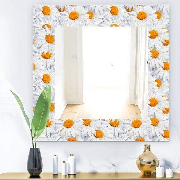 Daisy Hearts Close Traditional Wall Mirror