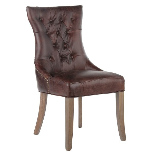 Mustang Tufted Genuine Leather Upholstered Dining Chair by Joseph Allen