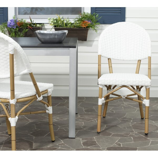 Nergizli Stacking Patio Dining Chair (Set of 2) by Bay Isle Home