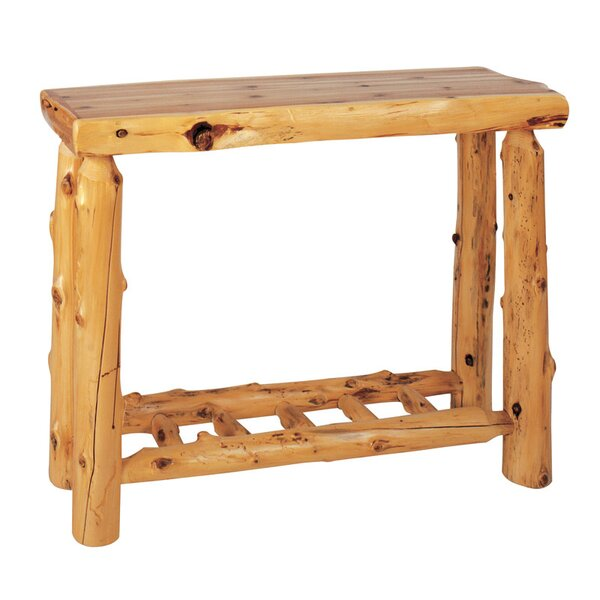 Traditional Cedar Log Console Table by Fireside Lodge