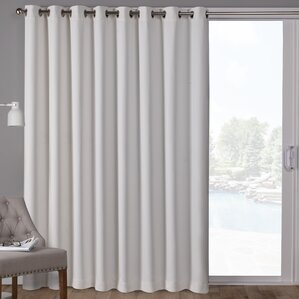 Campanella Sateen Solid Blackout Thermal Grommet Single Curtain Panel