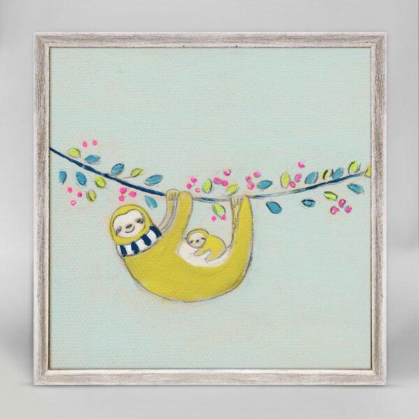 Kami Sloths Mini Framed Canvas Art by Harriet Bee