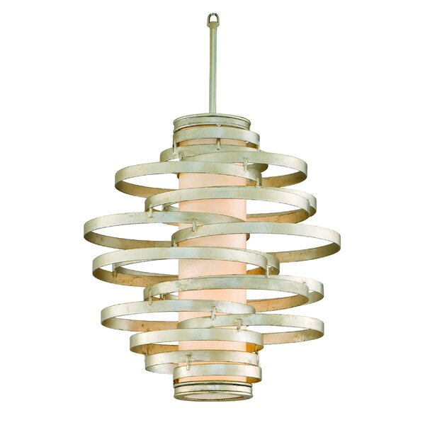 Vertigo 6-Light Unique / Statement Geometric Chandelier By Corbett Lighting