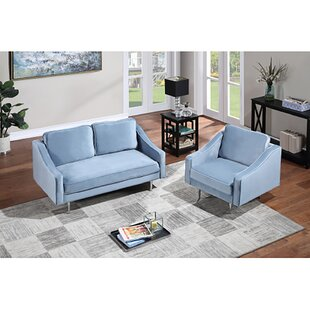 Sofa Set Morden Style Couch Furniture Upholstered Armchair, Loveseat And Three Seat For Home Or Office (1+2 Seat) (Set of 2) by Mercer41