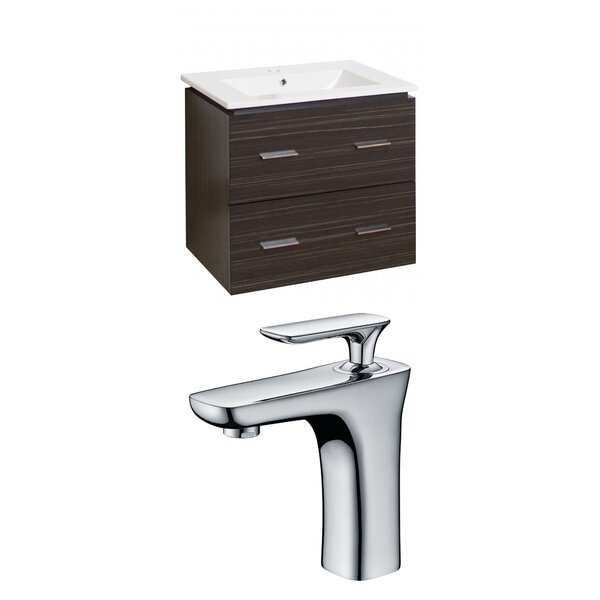 Kyra 24 Rectangle Wood Single Bathroom Vanity Set with 2 Drawers by Orren Ellis