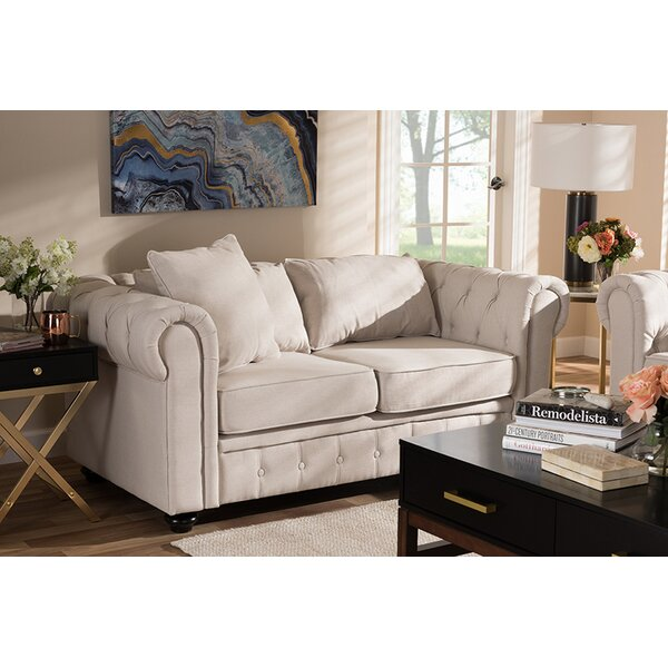 Premium Buy Furlow Chesterfield Loveseat by House of Hampton by House of Hampton