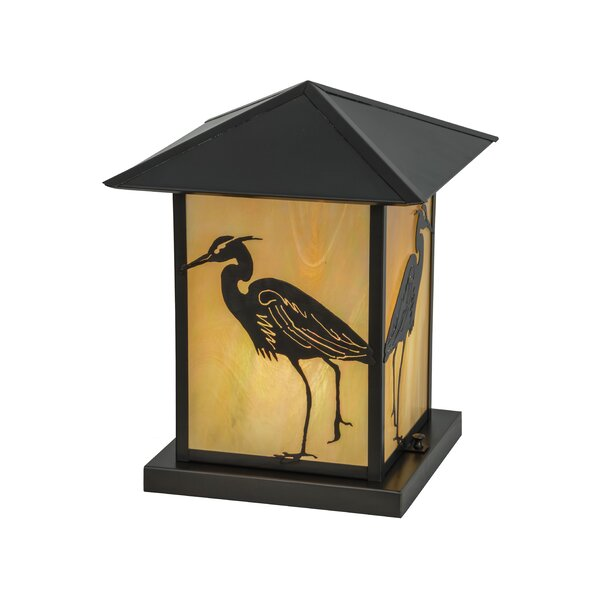 Greenbriar Oak Seneca Heron 1-Light Pier Mount Light by Meyda Tiffany