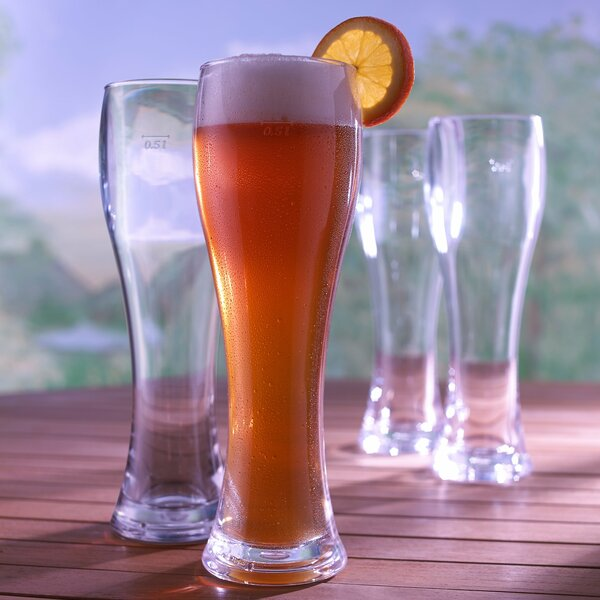 Indoor and Outdoor Pilsner 21 oz. Plastic Pint Glass (Set of 8) by Wine Enthusiast