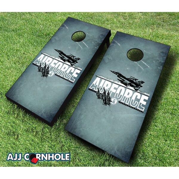 10 Piece US Air Force Imprint Cornhole Set by AJJ Cornhole