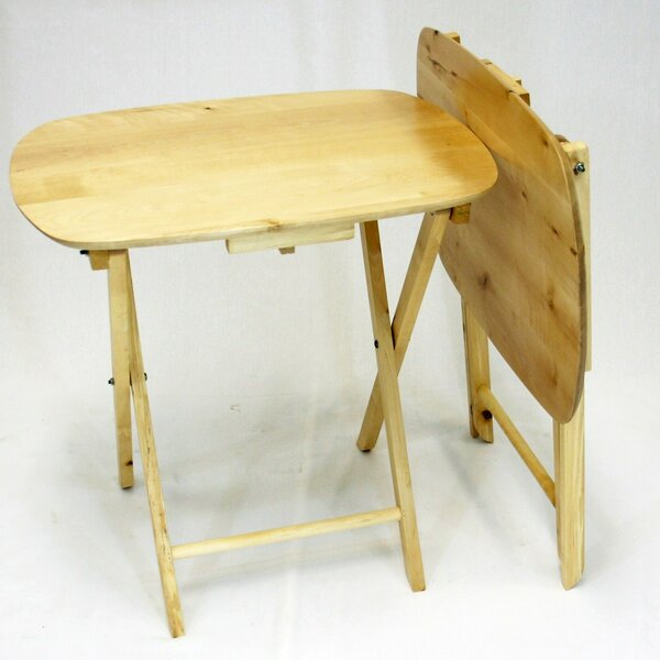Milton 2 Piece Folding TV Tray Table Set by Red Barrel Studio