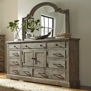 Buford 9 Drawer Combo Dresser with Mirror By August Grove
