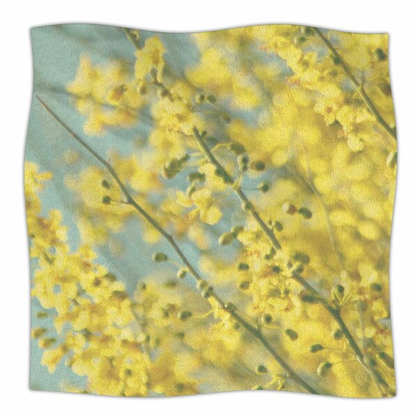 Yellow Blooms by Sylvia Coomes Fleece Blanket by East Urban Home
