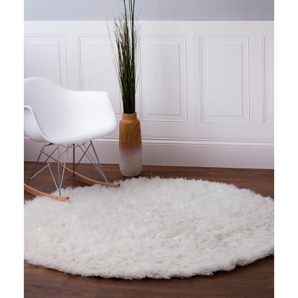 Lawanda Handmade White Area Rug by Zipcode Design