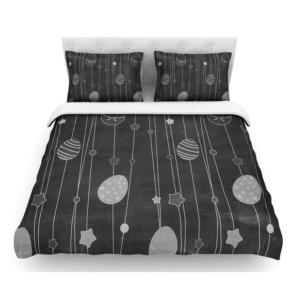 Chalk Eggs  Eggs Featherweight Duvet Cover by East Urban Home