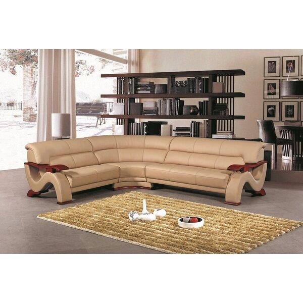 Hedger Leather Sofa by Hokku Designs