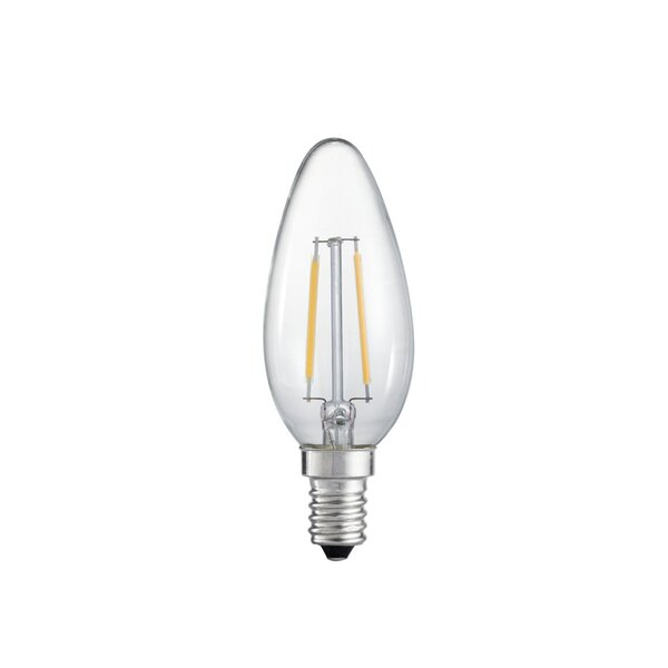E12 Candelabra LED Vintage Filament Light Bulb (Set of 6) by emark