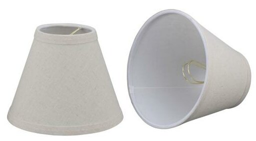 5 H Linen Empire Lamp Shade ( Clip On ) in Oatmeal (Set of 2)