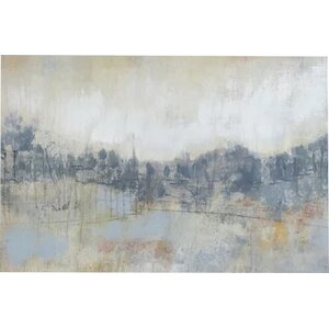'Cool Grey Horizon I' Painting Print on Canvas by East Urban Home