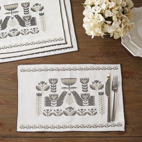 Folklore Cotton / Linen Placemat (Set of 4) by Danica Studio