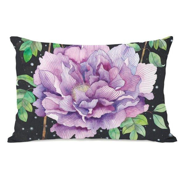Midnight Bloom Lumbar Pillow by One Bella Casa