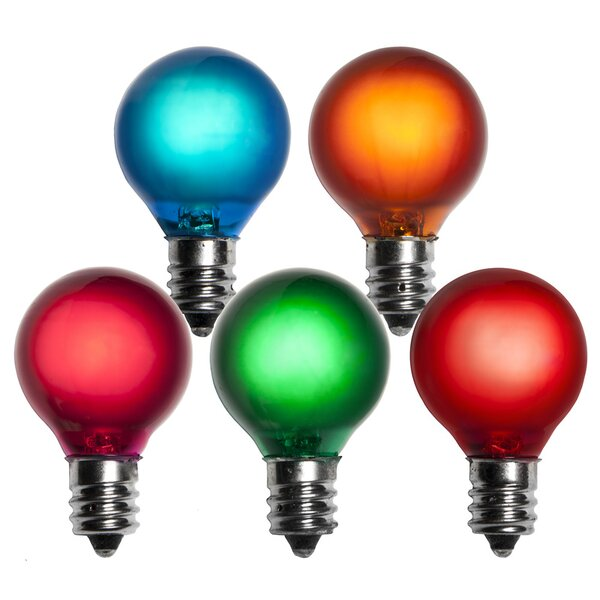 5W Multicolor 130-Volt Light Bulb (Pack of 25) by Wintergreen Lighting