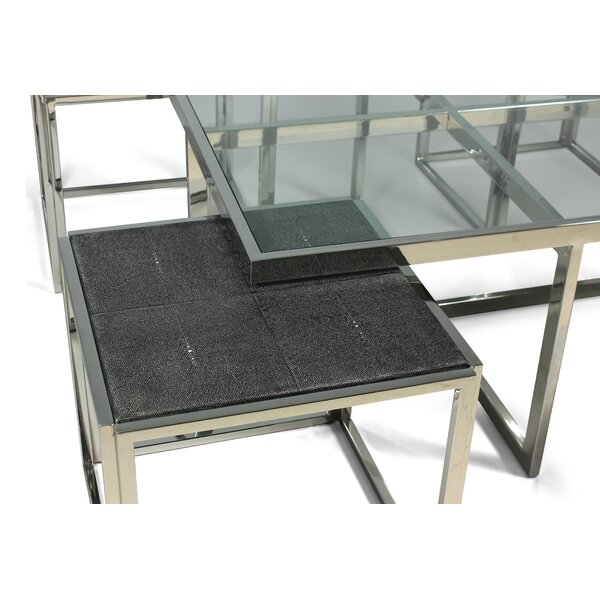 Maddock Coffee Table With Nested Stools By Orren Ellis