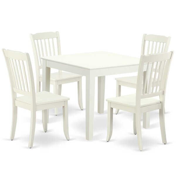 Krouse 5 Piece Solid Wood Dining Set by August Grove August Grove