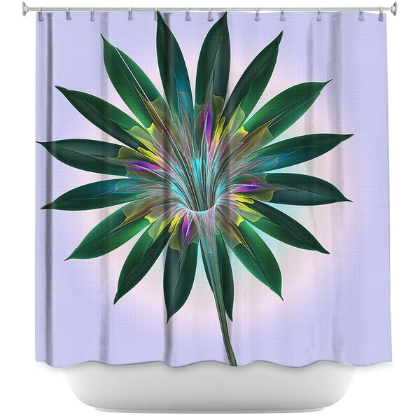 Floral Bliss Shower Curtain by East Urban Home