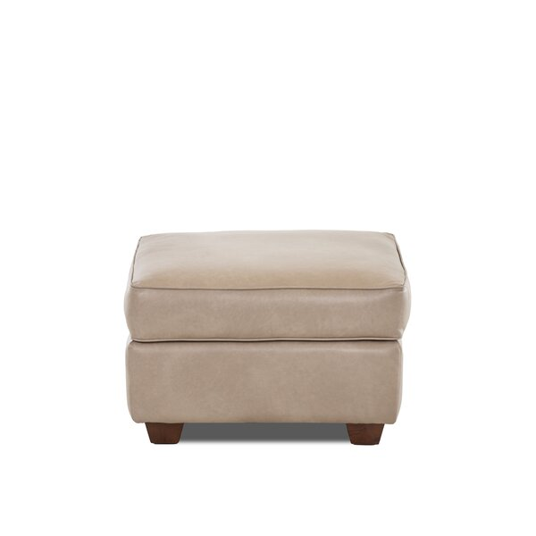 Jennifer Leather Ottoman by Wayfair Custom Upholstery™