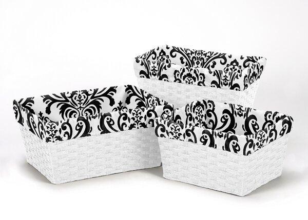 Isabella 3 Piece Basket Liner Set by Sweet Jojo Designs