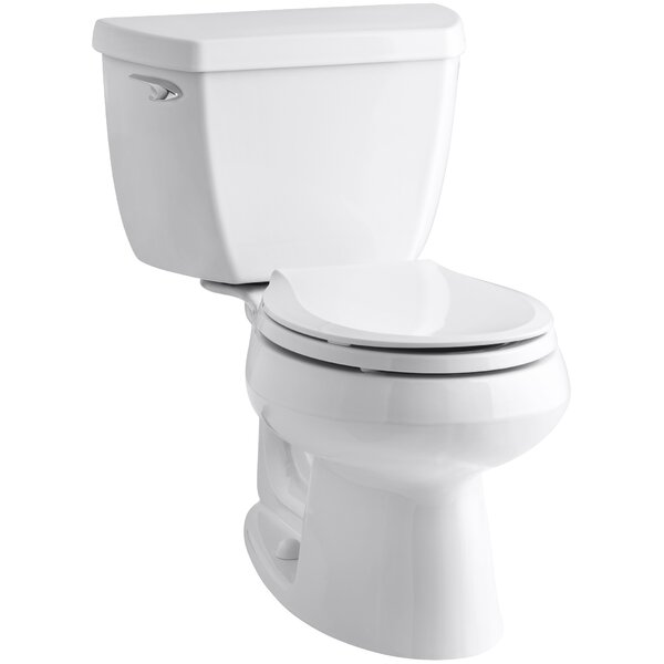 Wellworth Classic Two-Piece Round-FrontToilet with Class Five Flush Technology and Left-Hand Trip Lever by Kohler