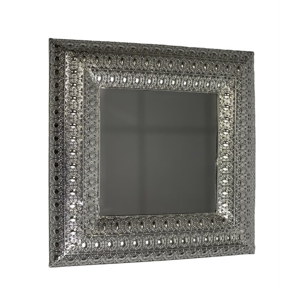Fairmount Metal and Glass Square Pierced Accent Mirror by World Menagerie