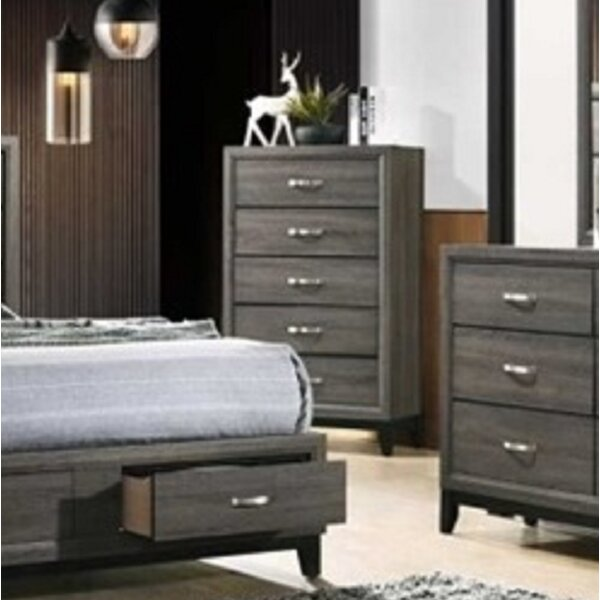 Lauria 5 Drawer Chest by Ivy Bronx Ivy Bronx
