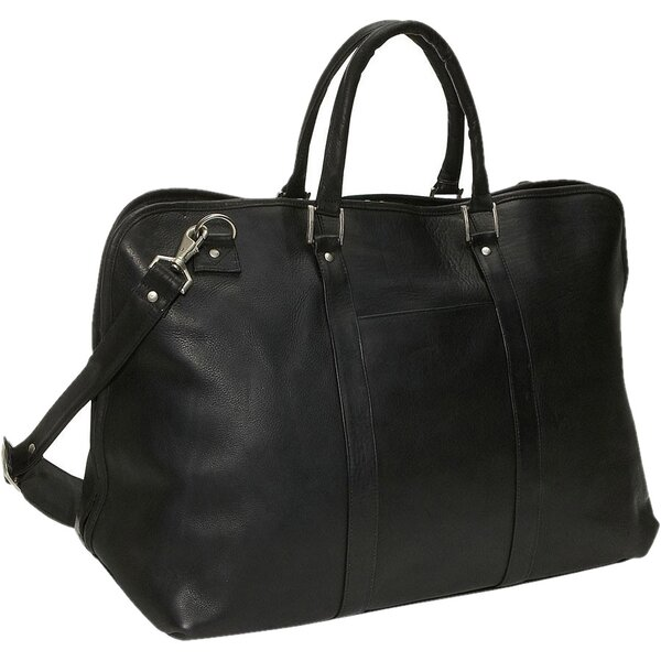 19 Large Opening Leather Travel Duffel by David King